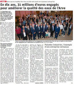 Article du Dauphiné Libéré du 08/06/19