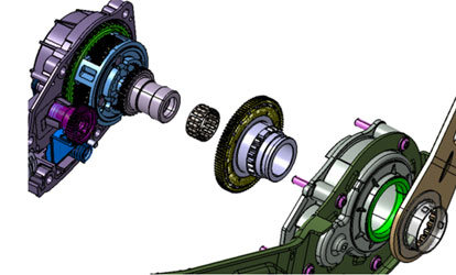 taillage denture intérieure et extérieure, usinage CNC de précision